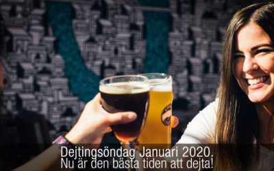 Dejtingsöndag Januari 2020. Nu är den bästa tiden att dejta!