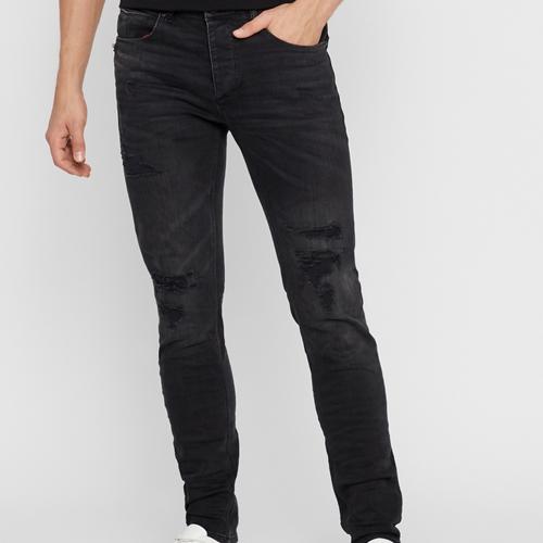 svarta slitna jeans herr från Gabba