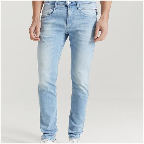 Blåa jeans herr