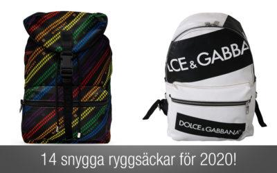 14 Trendiga och snygga ryggsäckar herr för 2020. En lista du inte får missa!
