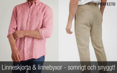 Linneskjorta och linnebyxor (herr) – sommarens självklara plagg! Nyheter sommar 2020.