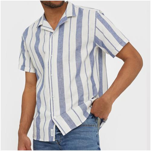 randig sommarskjorta herr Les Deux