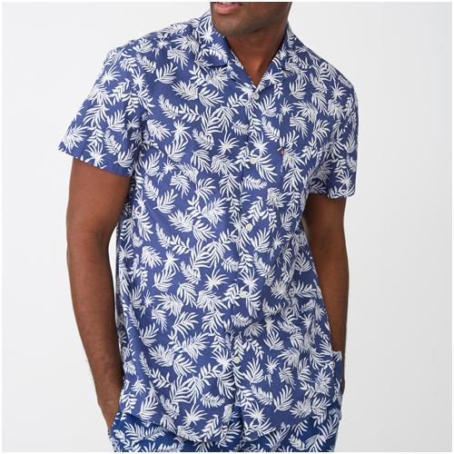 kortärmad sommarskjorta herr