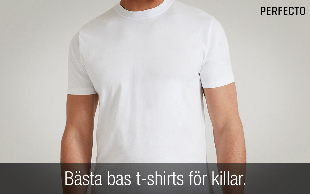 Bästa bas t-shirts herr. Essentiella och snygga t-shirts!