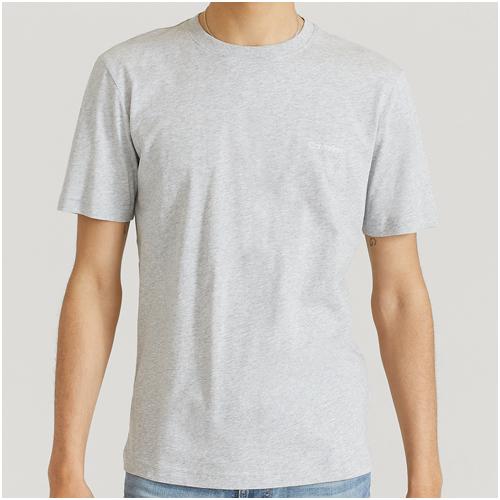 grå bas t-shirt herr
