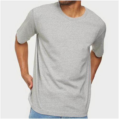 grå bas t-shirts herr