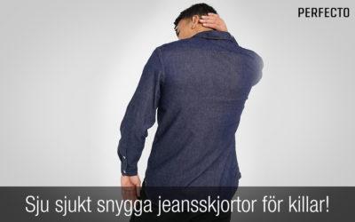 Sju sjukt snygga jeansskjortor för killar! Nytt för 2021.