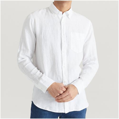 vit linneskjorta herr