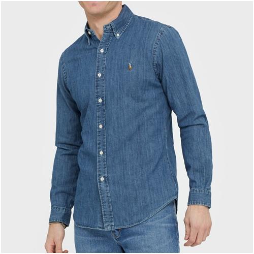 ralph lauren jeansskjorta herr