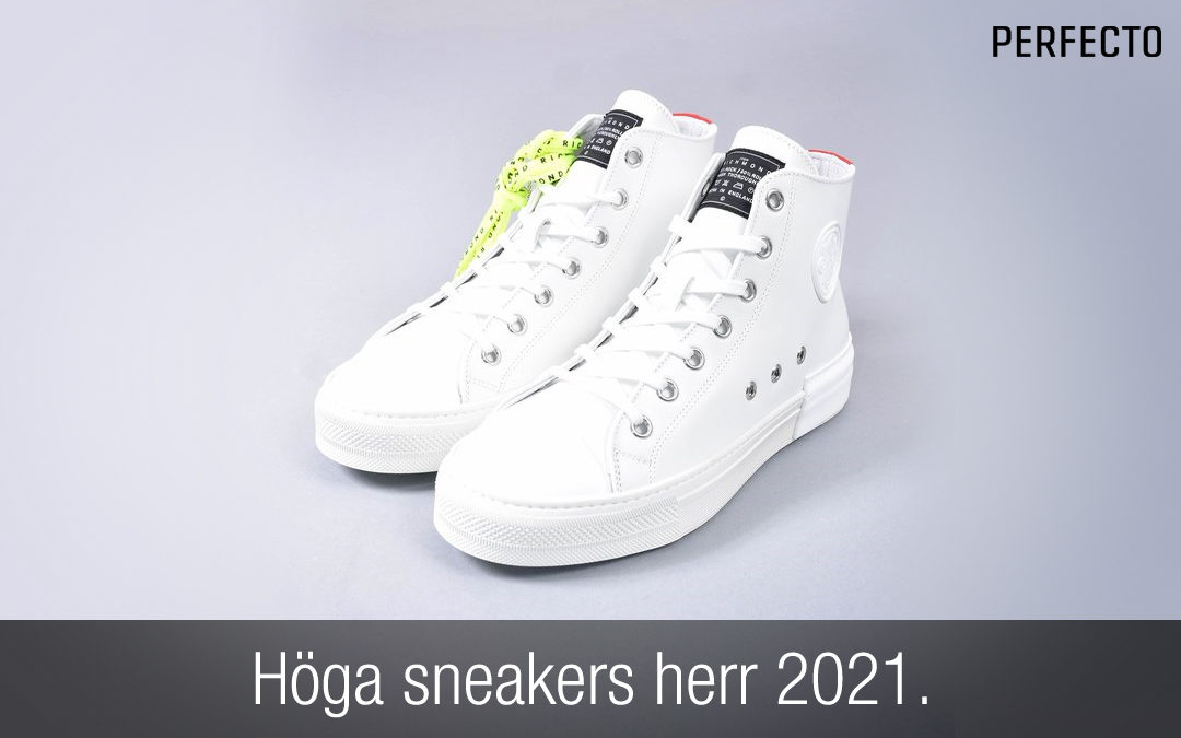 höga sneakers herr