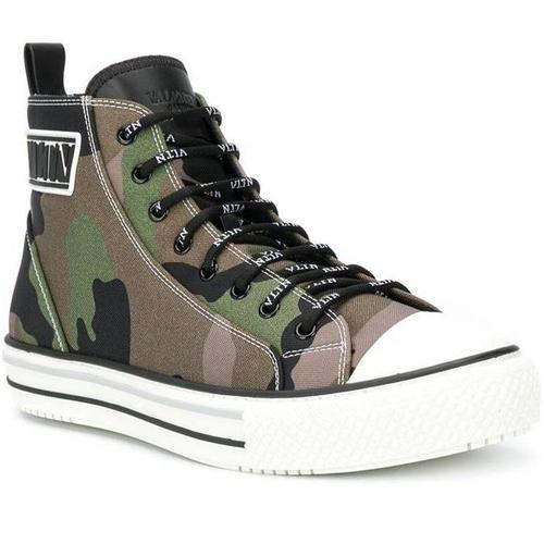 Valentino höga sneakers camo