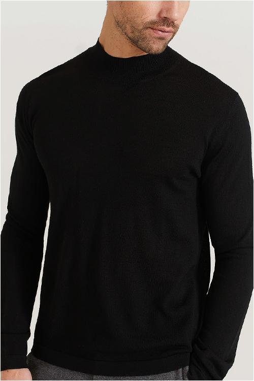 nyårskläder svart tröja herr