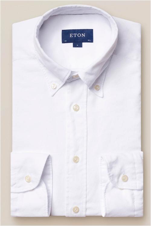 basgarderob män - vit oxfordskjorta