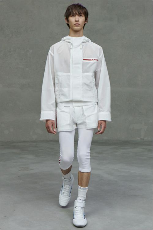 Trend herrmode 2021: vit outfit - Prada