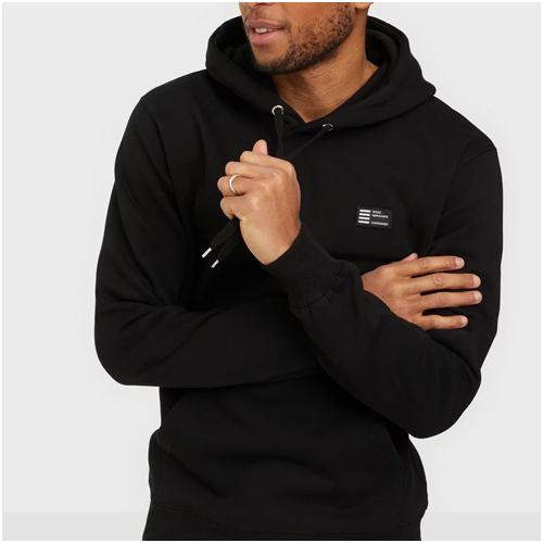 svart hoodie herr