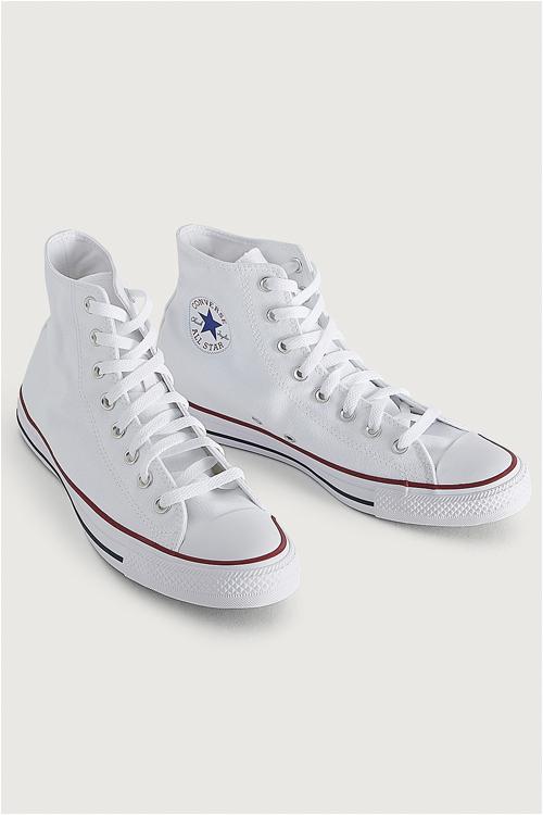 converse höga vita sneakers herr